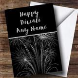 Silver Fireworks Customised Diwali Card