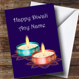 Two Candles Customised Diwali Card