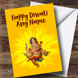 Yellow Ganesh Customised Diwali Card