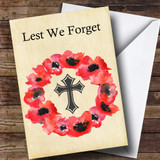 Poppy Wreath Customised Remembrance Day Card