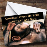 Relaxing Monkey Customised Retirement Card