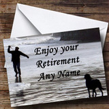 Man And Dog Customised Retirement Card