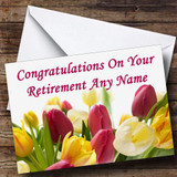 Tulips Customised Retirement Card