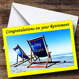 Deck Chairs Customised Retirement Card
