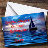 Sailing Boat Customised Retirement Card