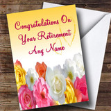 Yellow Flowers Customised Retirement Card