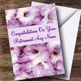Stunning Purple Petals Customised Retirement Card