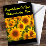 Sunflowers Customised Retirement Card