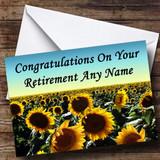 Sunflower Field Customised Retirement Card