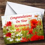 Poppy Customised Retirement Card