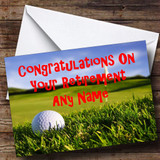 Golf Fan Customised Retirement Card