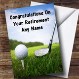 Golf Customised Retirement Card