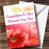 Flower Customised Retirement Card