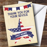 USA Flag Star Customised Retirement Card