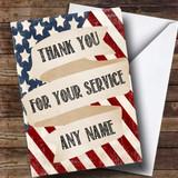 USA Vintage Flag Customised Retirement Card