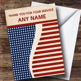 Vintage USA Flag Customised Retirement Card