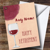 Wine Red Retirement Customised Card