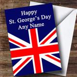 St George's Day Union Jack British Flag Customised Card