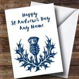 Blue & White Scottish Thistle Customised St Andrews Day