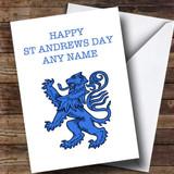 Blue Scottish Lion Customised St Andrews Day