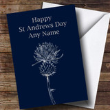 Silver Scottish Thistle Customised St Andrews Day