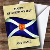 Vintage Scottish Flag Customised St Andrews Day