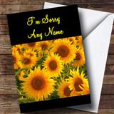 Sunflowers Customised Sorry Card