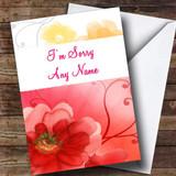 Flowery Customised Sorry Card