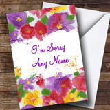 Flowers Customised Sorry Card