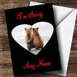Cuddling Bears Customised Sorry Card