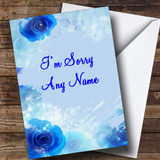 Blue Flowers Customised Sorry Card