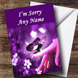Purple Butterfly Customised Sorry Card