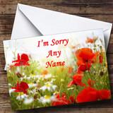 Poppy Customised Sorry Card