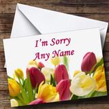 Tulips Customised Sorry Card