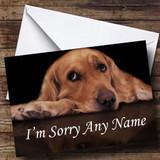 Sad Dog Customised Sorry Card