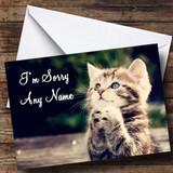 Kitten Praying Customised Sorry Card