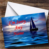 Sailing Boat Customised Sorry Card