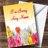 Yellow Flowers Customised Sorry Card