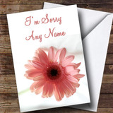 Stunning Pink Flower Customised Sorry Card