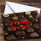 Chocolate Selection Customised Sorry Card