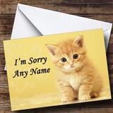 Ginger Kitten Customised Sorry Card