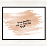 Watercolour Be A Seeker Quote Mouse Mat