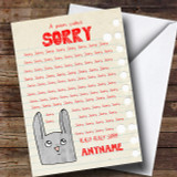 Funny Poem Sorry Customised Card