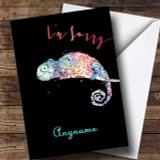 Chameleon Sorry Customised Card