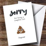 Funny Poo Sorry Customised Card