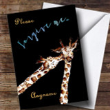 Giraffe Sorry Customised Card