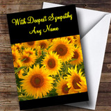 Sunflowers Customised Sympathy / Sorry For Your Loss Card