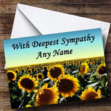 Sunflower Field Customised Sympathy / Sorry For Your Loss Card
