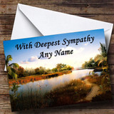 River Customised Sympathy / Sorry For Your Loss Card