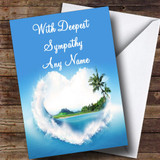 Palm Tree Love Beach Customised Sympathy / Sorry For Your Loss Card